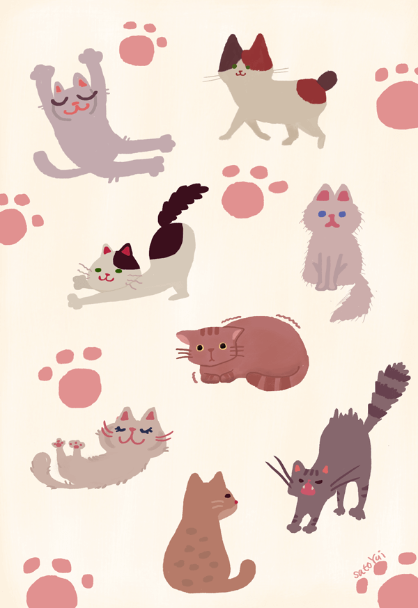 猫 種類 イラスト ポーズ