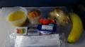 ハワイアン航空の朝食(機内食)