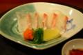 汁る椀 豆寅 鯛の薄造り