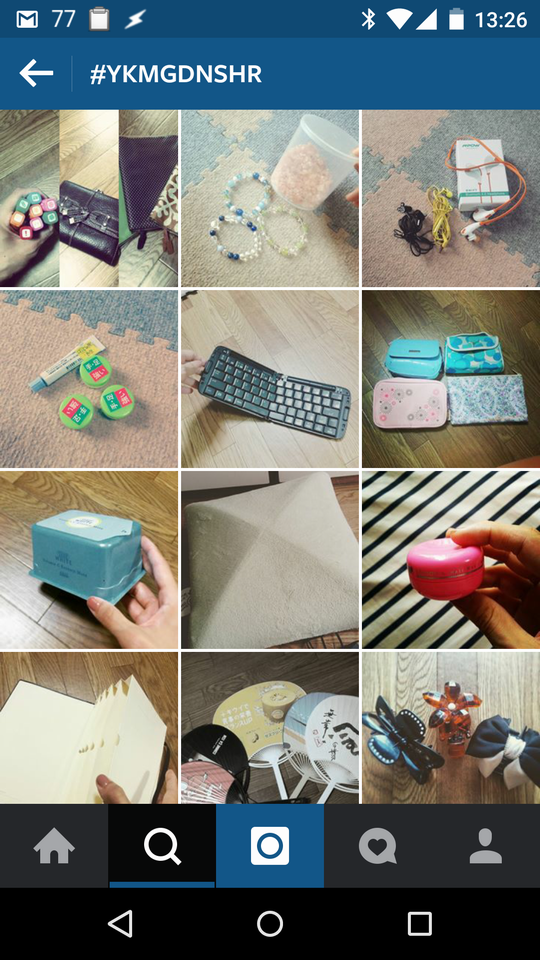 Instagramで『お片付けノート』実践の様子
