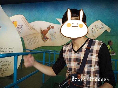 香港ディズニーランドのプーさんの冒険のQライン