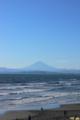 [海][富士山][空]新江ノ島水族館 水族館のデッキから眺める相模湾と富士山。