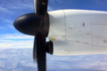 [旅行][屋久島][空]屋久島空港に向かうQ400機内にて。