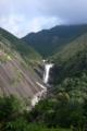 [旅行][屋久島]屋久島、千尋の滝(せんぴろのたき)。落差約60m、巨大な花崗岩を流れ