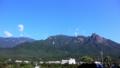 [空][旅行][屋久島]屋久島を去る日に快晴になる。尾之間からモッチョム岳ほかの山並み。
