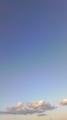 [空]台風18号通過後、快晴になった。夕暮れ前の北東の空。