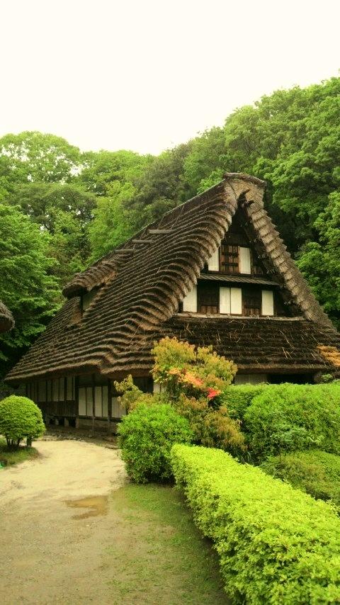 日本民家園、富山県の江向家住宅。