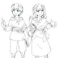 ミシマセノルとマーレマーレ(子供時代)
