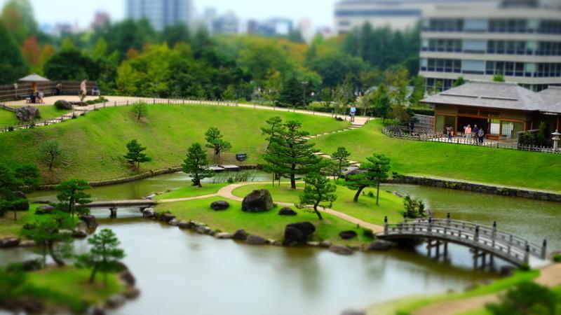 庭園(ジオラマ風)