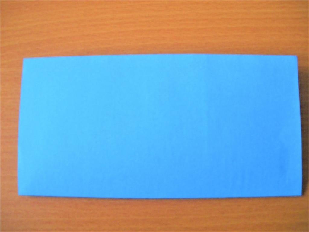 折り紙を2つ折りにした画像