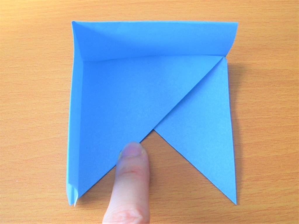 折り紙で作る四角形の箱の基本形の完成画像