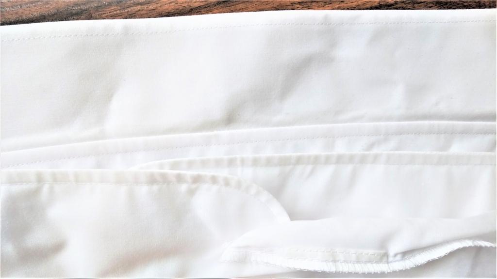 セスキ炭酸ソーダと固形石鹸で洗ったワイシャツの画像