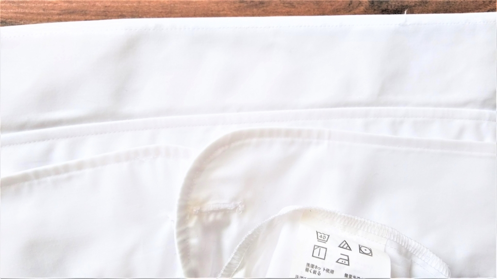 ダイソーのエリ・そで洗濯せっけんで洗ったワイシャツの画像