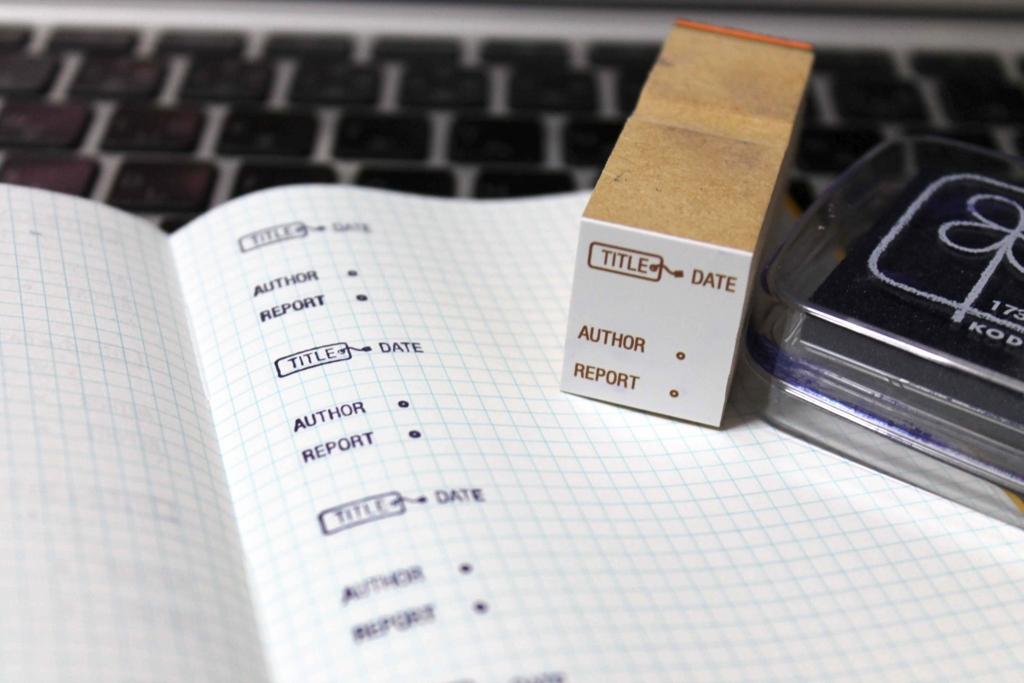 測量野帳&読書感想スタンプ
