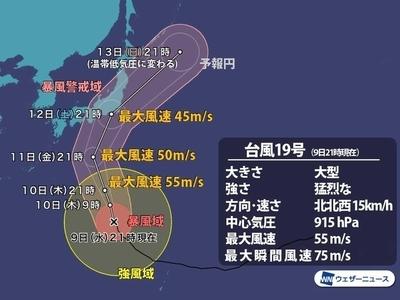猛烈な台風19号