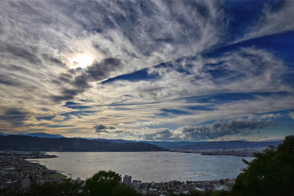 「立石展望公園」からの景色。昼。
