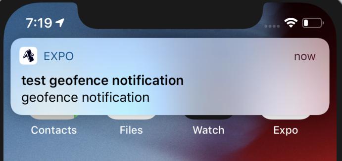 iOSシミュレーターに配信されたプッシュ通知