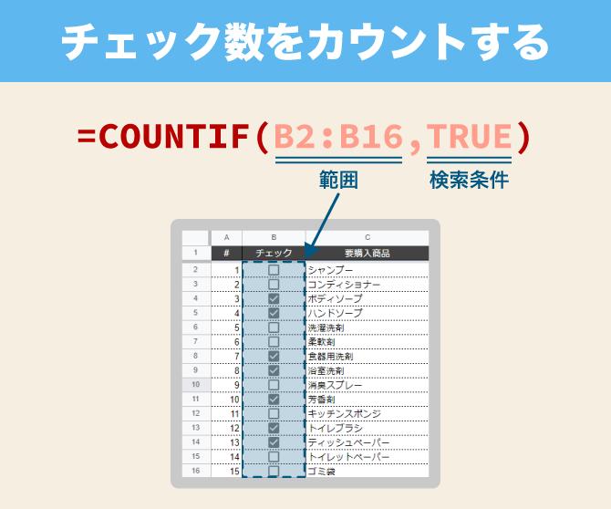 spreadsheet checkbox countif