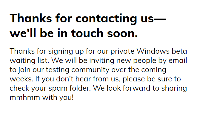 mmhmm windows waiting list
