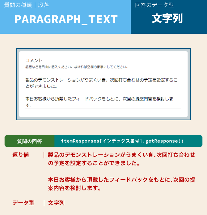 google form type paragraph text