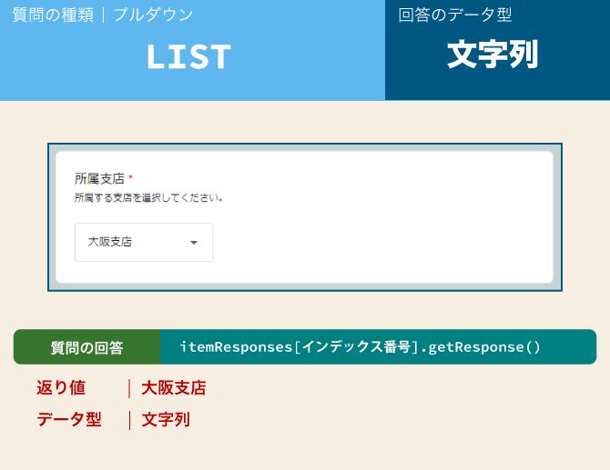 google form type list