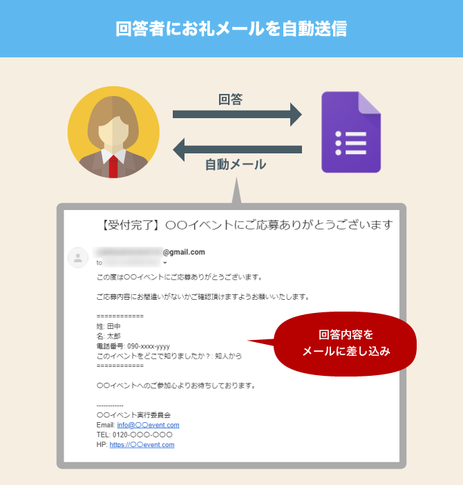 Google Apps Script Form auto reply