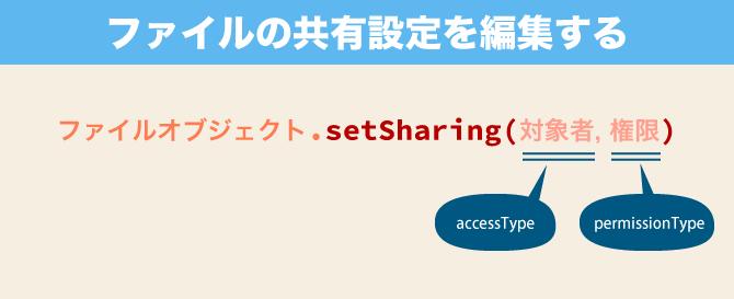 Google Apps Script setSharing