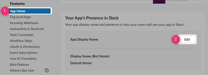 Slack App Bot User