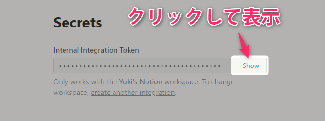 Notion API New integration