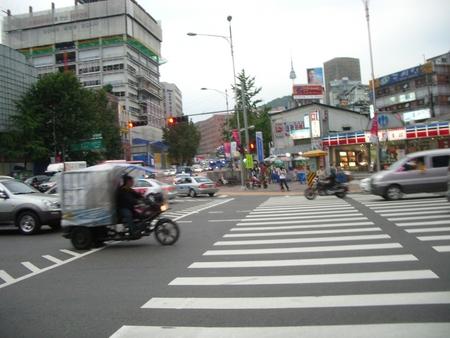 ソウルの道路は広い!!