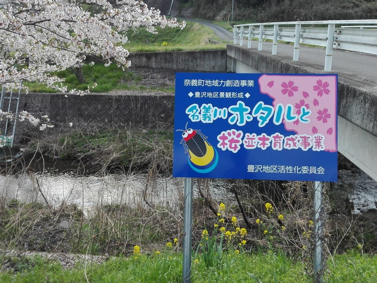 Nagi-river-firefly-information-board