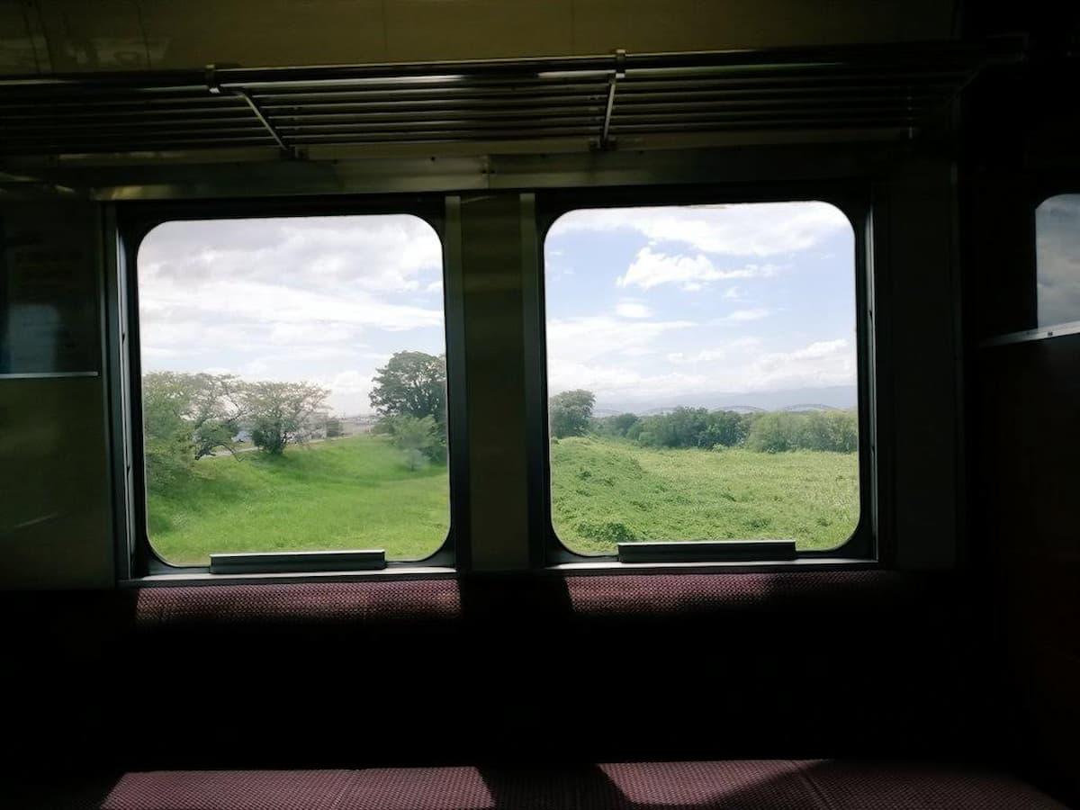 名鉄電車の車内