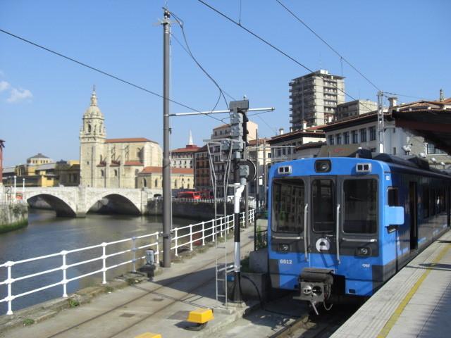 EuskoTren(ビルバオにて。)