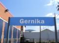 [スペイン][バスク][乗り物][風景写真]EuskoTrenのゲルニカ駅