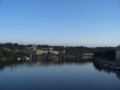 [チェコ]カレル橋の上から見たヴルタヴァ川(モルダウ川)