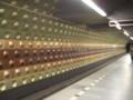 [チェコ]プラハ地下鉄、MUSEUM駅のホーム