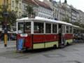 [チェコ]プラハにて。路面電車を使った喫茶店。