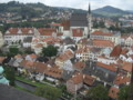[チェコ]チェスキークルムロフ城からの眺め