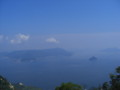 弥山山頂から眺める瀬戸内海。
