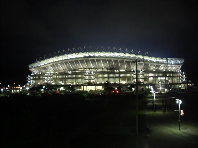試合後のスタジアム(2009年8月15日)