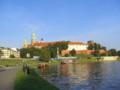 [ポーランド]ヴァヴェル城とヴィスワ川