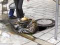[風景写真][スロバキア]ブラチスラバの銅像