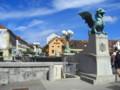 [スロベニア][風景写真]リュブリャナ、竜の橋。