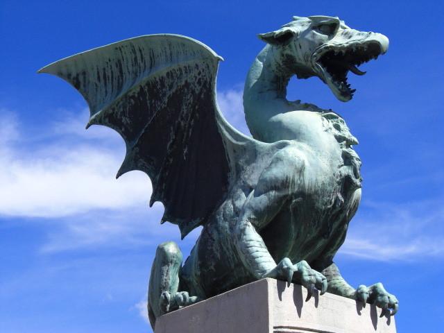 リュブリャナ、竜の橋。