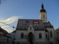 [クロアチア][風景写真]ザグレブの聖マルコ教会(Crkva sv. Marka)