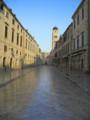 [クロアチア][風景写真]早朝のドブロブニク旧市街。