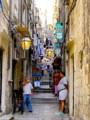 [クロアチア][風景写真]ドブロブニク旧市街の路地
