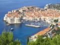 [クロアチア][風景写真]丘の上から眺める、ドブロブニク旧市街