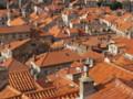 [クロアチア][風景写真]城壁の上から眺める、ドブロブニク旧市街