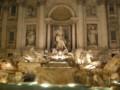 [イタリア][風景写真]夜のトレヴィの泉(Fontana di Trevi)